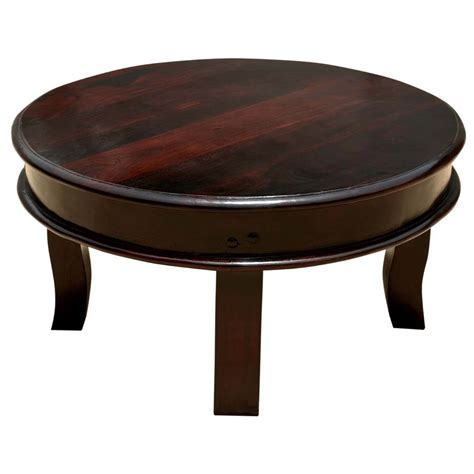 """Full Moon Solid Wood 36"""" Round Coffee Table"""