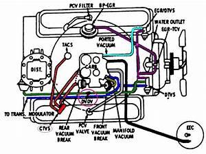 Carburetor Diagram Hoses For 350 Chevy Motor