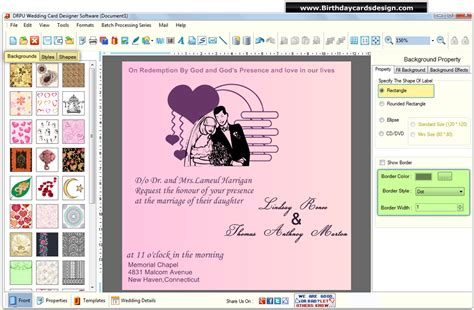 wedding card design software create customize marriage