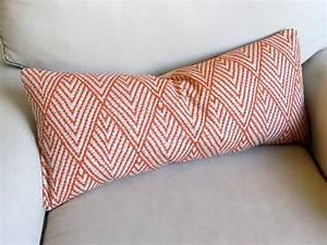ikat tangerine decorative designer lumbar bolster pillow 12x26 With designer bolster pillows
