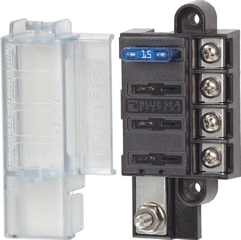 Blue Sea Systems Compact Fuse Block With Cover For