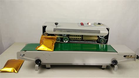continuous band sealer automatic bag sealing machine youtube