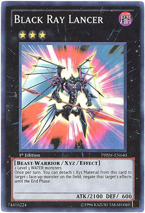 yu gi  card phsw en black ray lancer super rare