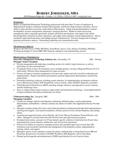 Mba Experience Resume Format by Exles Of Resumes 19 Reasons This Is An Excellent