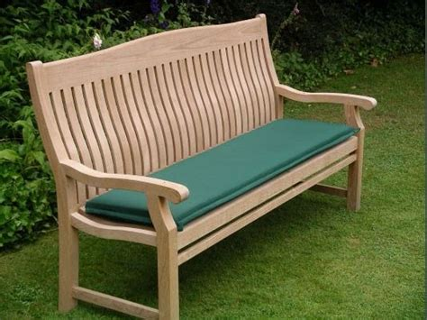 150cm Outdoor Bench Cushion  Rattan And Teak Garden