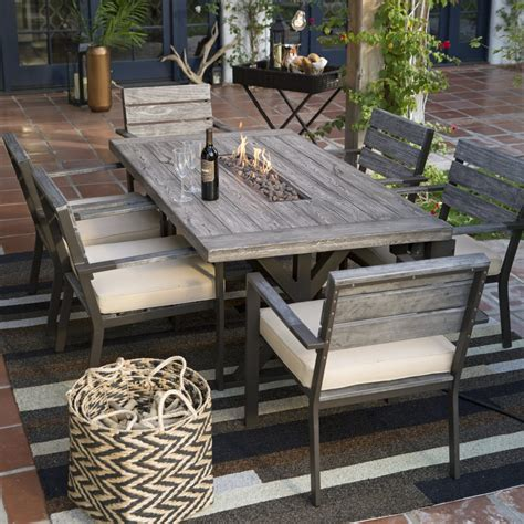 dining table with pit patio dining table set unique belham living silba