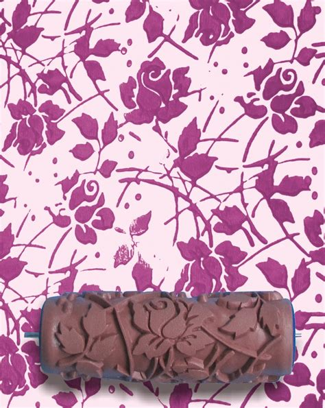 Malerrolle Mit Muster by Pattern Paint Roller In Sweet Sea Roses Design By