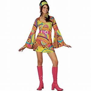 Wicked Costumes Ltd Retro 60s 70s Groovy Gogo Girl Fancy ...