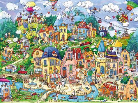 happytown jigsaw  rita berman   pieces