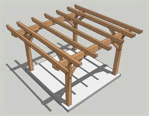 Porch Building Regulations by 12x12 Timber Frame Pergola Plan Timber Frame Hq