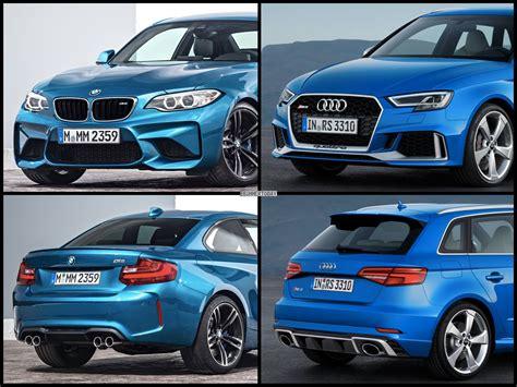 photo comparison bmw   audi rs sportback facelift
