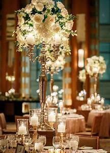 Encantadores centros de mesa para bodas al estilo glam