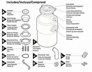 Sink Dishwasher Garbage Disposal Parts Diagram