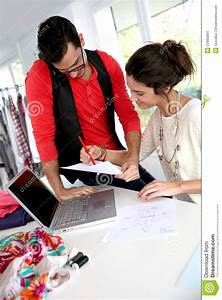 Fashion designers at work stock photo. Image of designer ...
