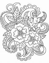 Coloring Paisley Adults Pattern Pages Flowers Patterns Flower Floral Drawing Adult Printable Sheets Baroque Template Bandana Designs Mandala Bestcoloringpagesforkids Books sketch template