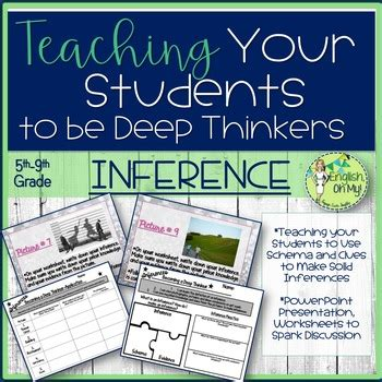 inference  drawing conclusions worksheet