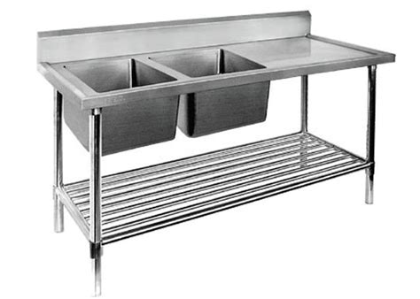 Restaurant Prep Table With Sink 1  2  3 Sinks Stainless