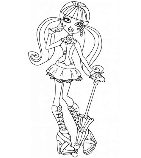 top  monster high coloring pages
