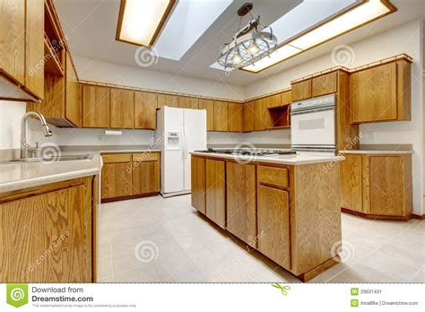 wood floor kitchens wood kitchen with island without windows with bright light 1131