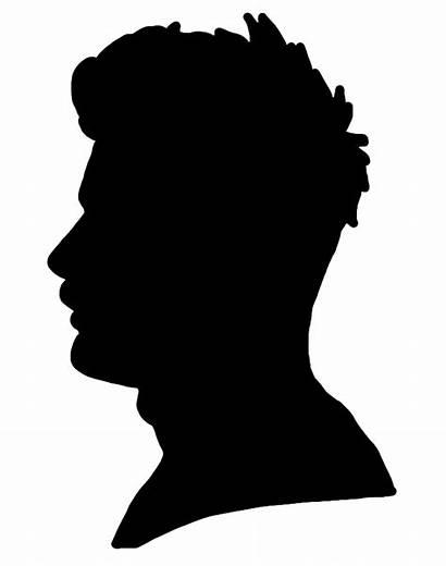 Silhouette Profile Male Head Face Young Clip