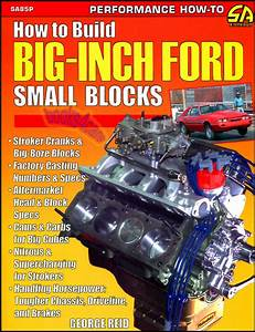 Ford Small Blocks Book Manual Shop How To Build Big Inch