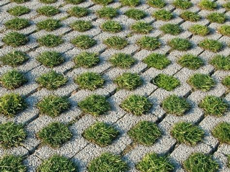 grass pavers for the driveway courtyard or the patio