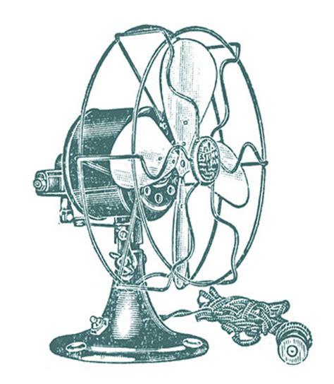 vintage clip art electric fans steampunk  graphics fairy
