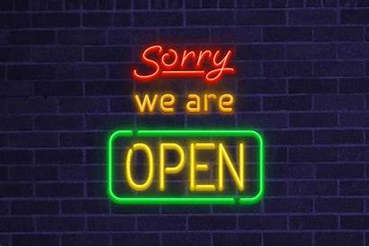 Friday Shattering Record Neon Sign Open Re