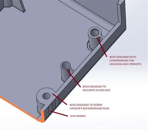 Injection Molded Part Design Part 3 Bosses Studiored