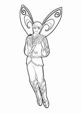 Coloring Prince Pages Fairy Barbie sketch template