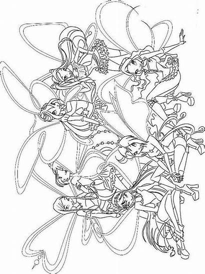 Winx Coloring Club Pages Fairies Stella Printable