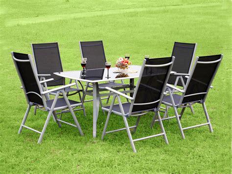 salon de jardin aluminium 6 chaises table