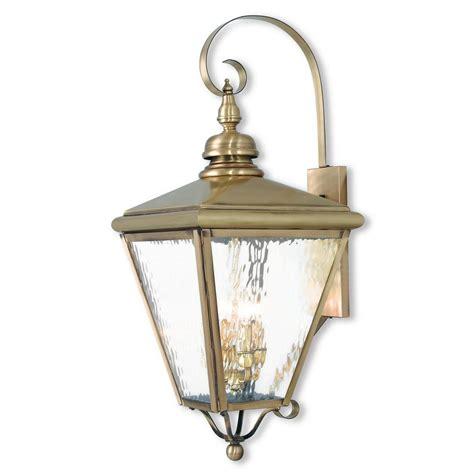 livex lighting cambridge 4 light antique brass outdoor