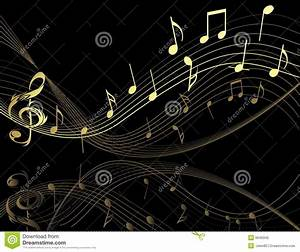 Background With Music Notes Stock Vector - Illustration ...