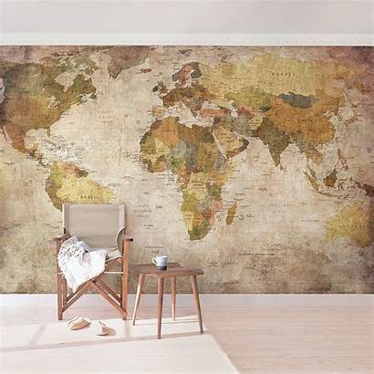 Map Mural Woven Non Wide Thought Wall