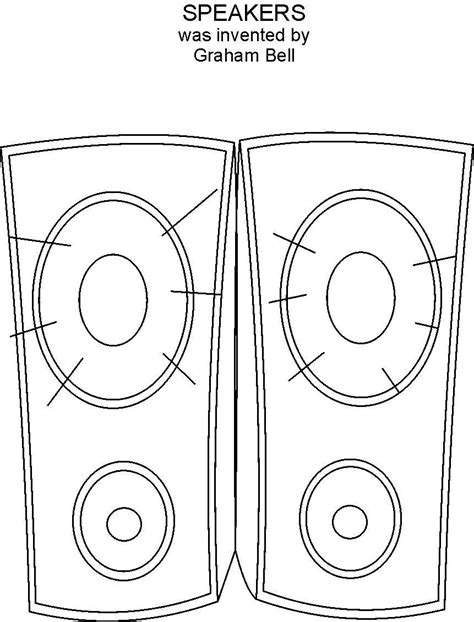 color picture of speaker coloring printable page