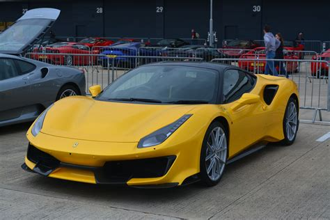 The ferrari 488 pista is powered by the most powerful v8 engine in the maranello marque's history and is the company's special series sports car with the highest level yet of technological transfer from. Ferrari 488 Pista Yellow