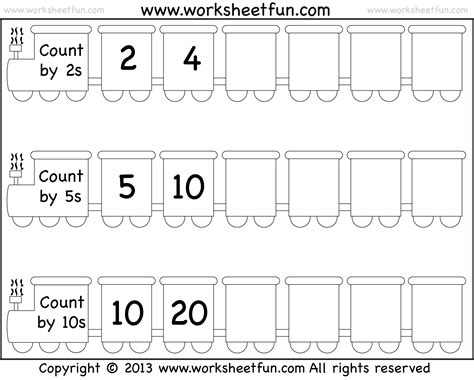Skip Counting By 2, 5 And 10  Worksheet  Free Printable Worksheets Worksheetfun