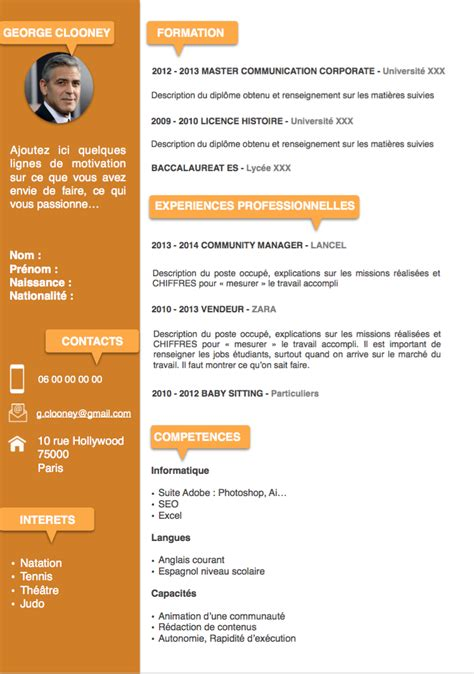 Comment Faire Un Cv En 2016 by Comment Faire Un Cv En 2016 Modele De Cv Doc