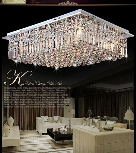 lustres chambre moderne carré argent cristal lustre chambre lustre salon