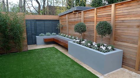 garden fencing ideas modern cedar london garden design