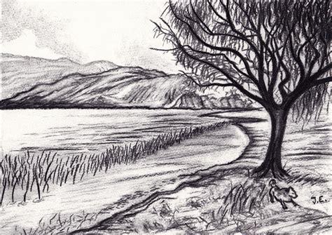 charcoal landscape sketches brimbromcom
