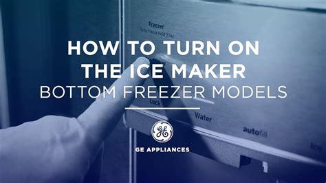 french door refrigerator icemaker operation youtube