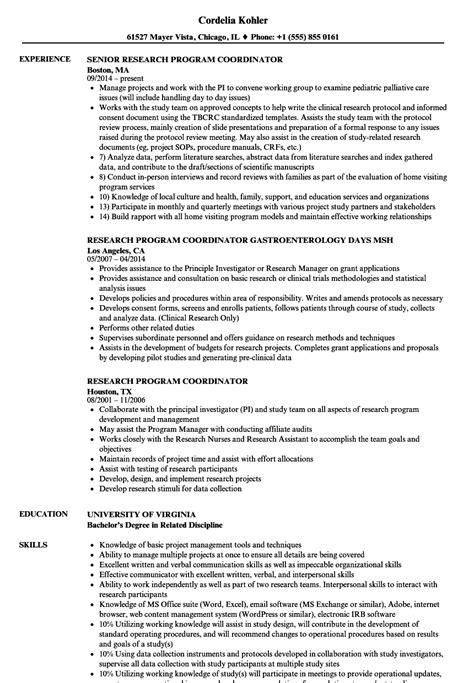 Resume Programs by Resume Exles Program Coordinator Program Coordinator