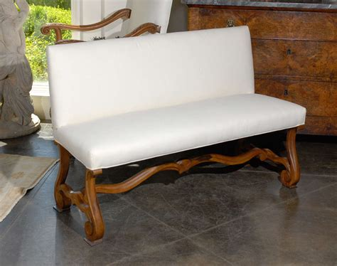 upholstered settee bench upholstered bench settee at 1stdibs