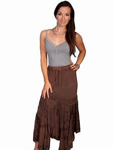 Scullyu00ae Ladies Blue Long Western Skirt