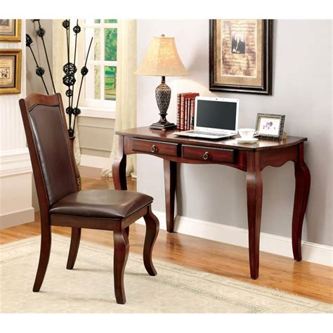 desk chair set furniture of america graig writing desk and chair set in