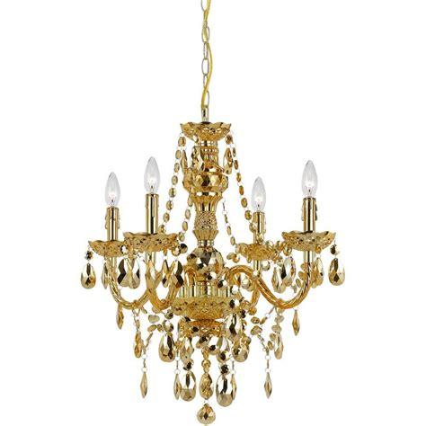 home depot chandeliers af lighting naples 4 light gold mini chandelier with