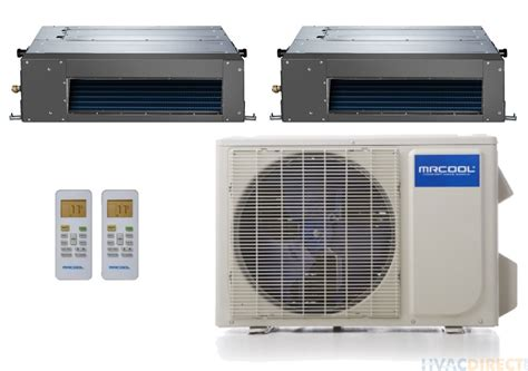 mrcool duct zone heat split pump ducted system concealed dual btu olympus hvacdirect views