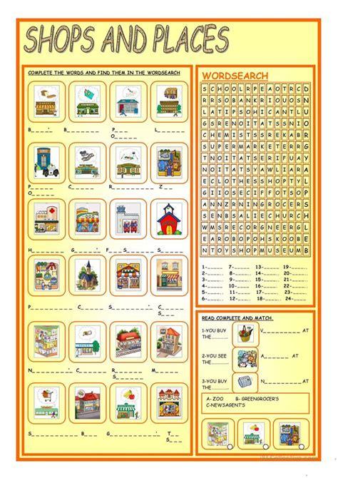 esl shopping worksheets